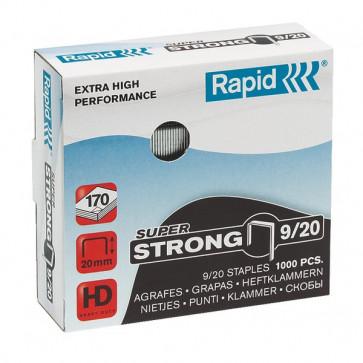 Punti per alti spessori Rapid Punti metallici 9/20 Super Strong 24871700 (conf.1000)