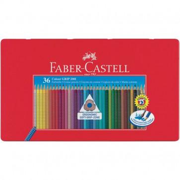 Matite Colorate Acquerellabili Colour Grip Faber Castell Astuccio Metallo 112435 (Conf.36)