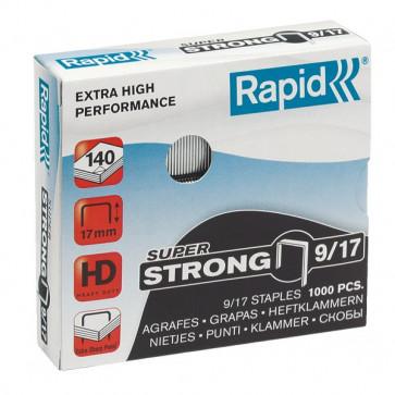 Punti per alti spessori Rapid Punti metallici 9/17 Super Strong 24871600 (conf.1000)