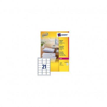 Etichette bianche QuickPeel™ x indirizzi ecologiche,FSC Avery 63,5x38,1 mm L7160-100 (conf.100)