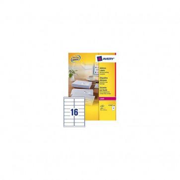 Etichette bianche QuickPeel™ x indirizzi,ecologiche,FSC Avery 99,1x33,9 mm L7162-100 (conf.100)