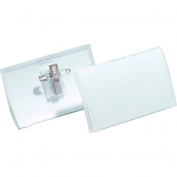 Portabadge Click Fold Durable 5,4x9 cm Clip e spilla 8214-19 (conf.25)