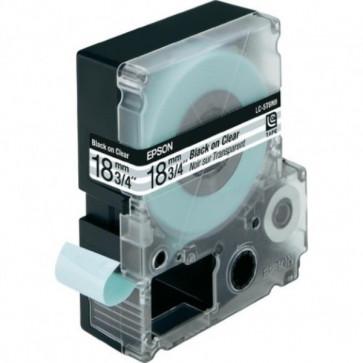 Nastro per etichettatrice LC Epson - 18 mm x 9 m - nero/trasparente - C53S626406
