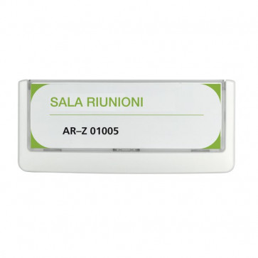 Targa Click Sign Durable 14,9x5,25 cm bianco 4860-02