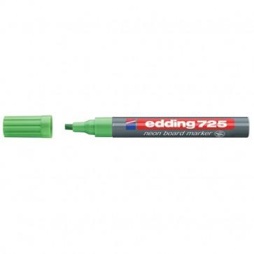 Marcatore per lavagne fluorescente e-725 Edding verde fluorescente- scalpello 2-5 mm e-725 064
