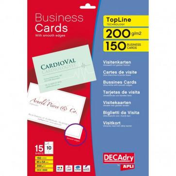 Biglietti da visita Decadry laser/inkjet bordo liscio angoli vivi 200 g DCC342 (conf.500)