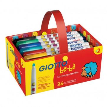 Schoolpack 36 pennarelli Giotto Be-bè 5 mm da 2 anni 4612 00 (conf.36)
