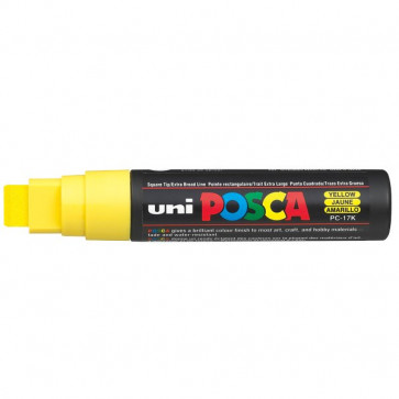 Marcatore Uni Posca a tempera Uni-Ball giallo a scalpello 15 mm M PC17K G