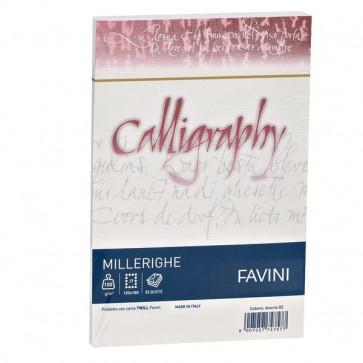 Calligraphy Millerighe Rigato Favini bianco buste 12x18 cm 100 g A570427 (conf.25)