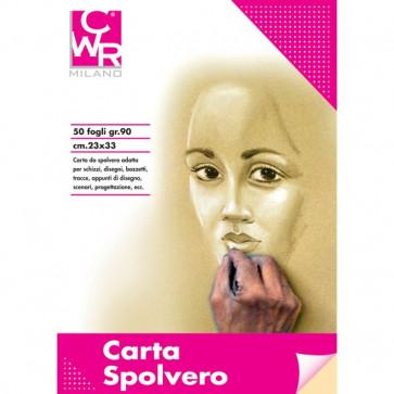 Carta Spolvero CWR 33x50 cm 90 g/mq 50 fogli 1033