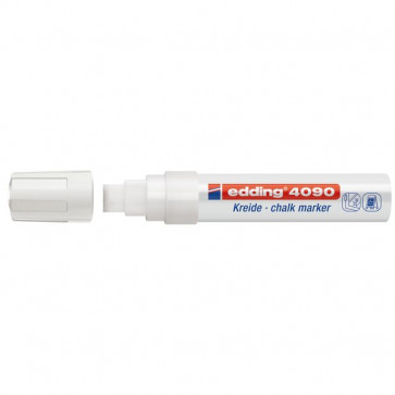 Marcatore A Gesso Liquido 4090 E 4095 Edding Punta A Scalpello 4-15 Mm Bianco E-4090/049