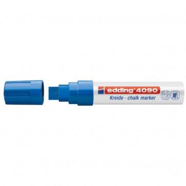Marcatore A Gesso Liquido 4090 E 4095 Edding Punta A Scalpello 4-15 Mm Blu E-4090/003