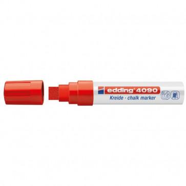 Marcatore A Gesso Liquido 4090 E 4095 Edding Punta A Scalpello 4-15 Mm Rosso E-4090/002