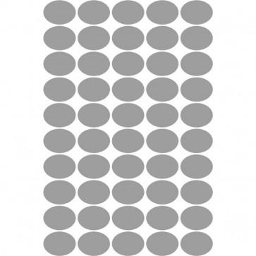 conf 100 Etichette satinate argent ovali 36x27 Tico SL4-3627