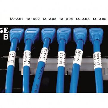 Nastro Dymo D1 Industriale Rhino Dymo Nastro In Vinile 9 Mm X 5,5 M Nero/Bianco 18443