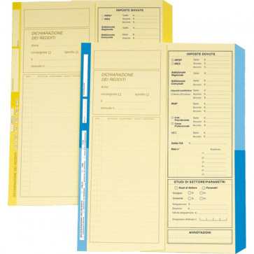 Cartelline Dichiarazione Redditi 4Company Avorio Blu 4175 01 (Conf.50)