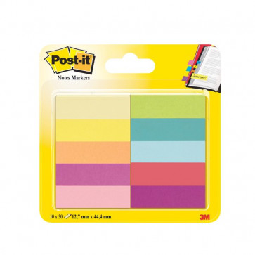 Segnapagina Post-It® Notes Markers In Carta 12,7X44,4 Mm Jaipur: Giallo Canary™, Giallo Oro, Arancio Neon, Fucsia, Rosa, Verde Neon, Acquamarina, Rosso Rubino 50 670-10-Eu (Conf.10)