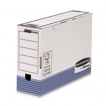 Sistema Di Archiviazione Bankers Box System Fellowes Contenitore Archivio Legal Dorso 10 Cm Legal 36X8X25,5 Cm Aletta Di Chiusura 0030801 (Conf.10)