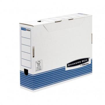 Sistema Di Archiviazione Bankers Box System Fellowes Contenitore Archivio A4 Dorso 8 Cm A4 36X8X25,5 Cm Aletta Di Chiusura 0026401 (Conf.10)