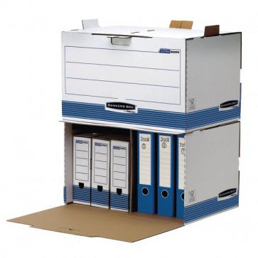 Sistema Di Archiviazione Bankers Box System Fellowes Container Archivio 32,5X54X37,5 Cm 33,5X55,7X38,9 Cm Aletta Di Chiusura 0029901 (Conf.5)