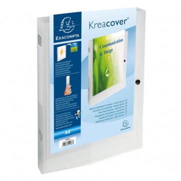 Cartelle Portaprogetto Personalizzabili Kreacover Exacompta Bianco Trasparente 59988E