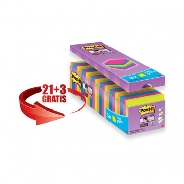 Foglietti Post-It® Super Sticky Value Pack 76X76 Mm Giallo Canary™ 654-Sscy-Vp16-Eu (Conf.16)