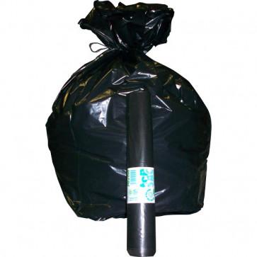 Sacchi per immondizia Cagliplast 85x120cm-130l-60µm -nero fondo piatto antigoccia- 10087 (conf.20)
