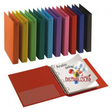 Raccoglitori Nettuno Sei Rota 22x30 cm 8 cm rosso D 50 mm 36805042