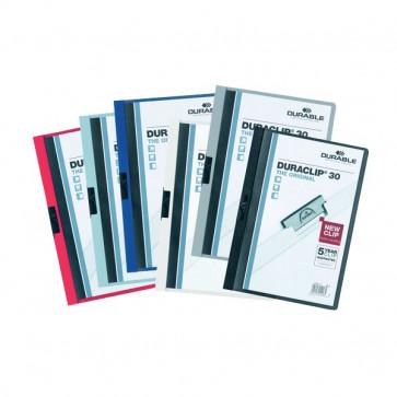 Cartelline Duraclip® Durable 6 mm Capacità 60 fogli grigio antr. 2209-57