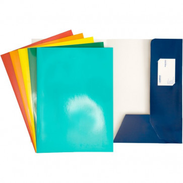 Cartellina 2 lembi per presentazioni 4company blu 3760 01 (conf.10)