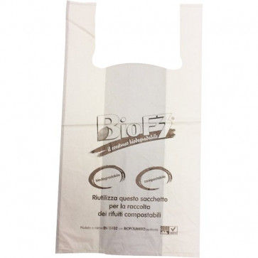 Shopper biodegradabile 30+20X60 cm HD PE (Cartene) 9 g SHOPMAXIBIOCOMDB/13 (conf.500)
