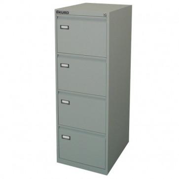 Classificatori Kubo grigio 4 cassetti 47x62x132 cm 4004