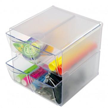 Cubi Organizer Deflecto a 4 cassetti trasparente DE350301
