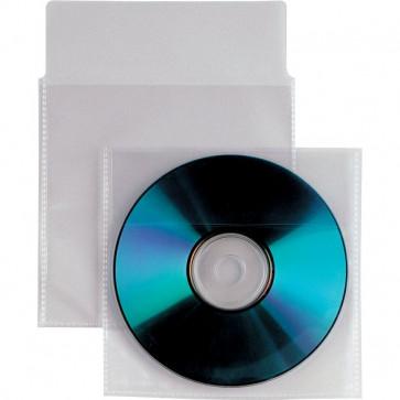 Buste trasparenti porta CD/DVD Insert Sei Rota patella e striscia adesiva 430105 (conf.500)