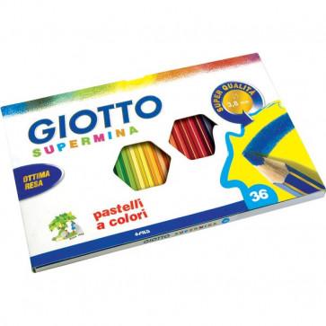 Pastelli Supermina Giotto 3,8 mm da 3 anni in poi 235900 (conf.36)