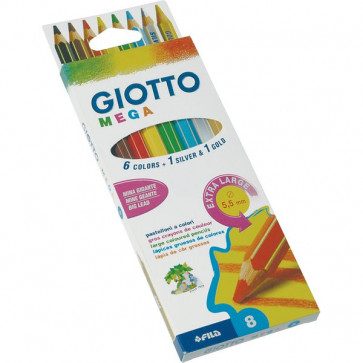 Pastelli Giotto Mega 5,5 mm da 3 anni in poi 225400 (conf.8)