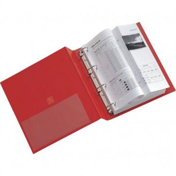 Raccoglitori Stelvio a 4 anelli Sei Rota Anelli Q Ø anelli 65 mm 22x30 cm rosso 36654012