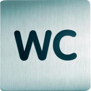 Pittogramma in acciaio Durable quadrato wc 150x150 mm 4957-23