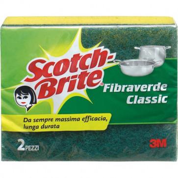 Spugna per stoviglie Scotch-Brite® gialla/verde 130x75x40 mm 50499/50483 (conf.2)