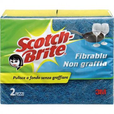 Spugna per stoviglie Scotch-Brite® antigraffio gialla/blu 130x75x40 mm 56573/50525 (conf.2)