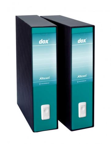 Registratori Dox 2 protocollo dorso 8 cm verde mare D26212
