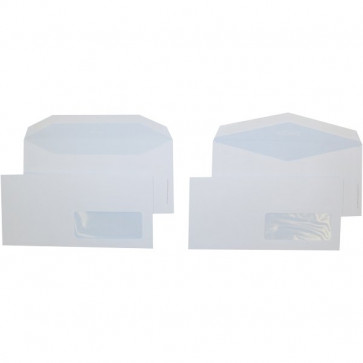 Buste comm. Pigna taglio dritto con finestra gommata 11x23 cm 80 g/mq 0388987 (conf.500)