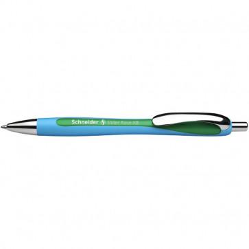 Penna a sfera a scatto Slider Rave Schneider - 0,7 mm - verde - 132504