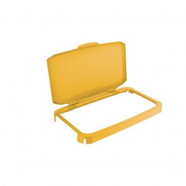 Coperchio per contenitore Durabin per la raccolta differenziata Durable - 51x28,5x7,3 cm - giallo - 1800500030