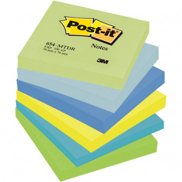 Post-it® Note Dream Post-It tinta unita 100 76x76 mm verde,blu 654-MTDR (conf.6)