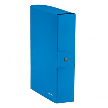 Cartella a scatola WoW Leitz 8 cm Azzurro metallizzato 39670036