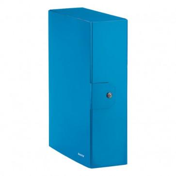 Cartella a scatola WoW Leitz 10 cm Azzurro metallizzato 39680036