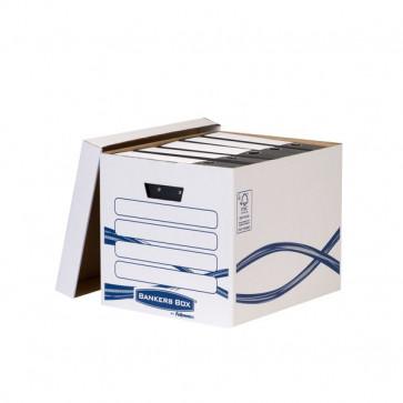 Scatola Archivio Basic Grande Fellowes - coperchio separato - 33x32x42 cm - 33x34x42,6 cm - 4461001 (conf.10)