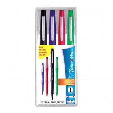 Penna con punta sintetica Flair Nylon Papermate - assortiti - S0917670 (conf.4)