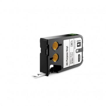 Etichette XTL in vinile Dymo - 12 mm - nero/bianco - 1868751